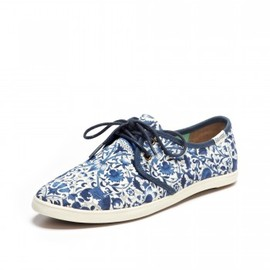 SOLUDOS - Floral Lace Up Navy