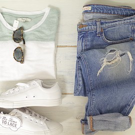 madewell, CONVERSE, j brand - outfit