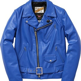 Supreme×UnderCover×Schott Perfecto Leather Riders Jacket Royal Blue Color - 日本3/28発売!シュプリーム (SUPREME) × アンダーカバー (UNDERCOVER) 2015 SS コラボ、発表!