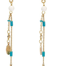 Isabel Marant - Casablanca gold-tone, bone and resin earrings