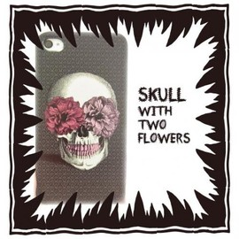 MOG NIPPON - ♡†♡ skull with two flowers 3360yen♡†♡