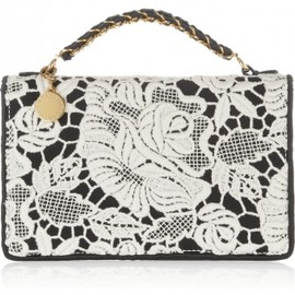 Stella McCartney - Grace lace and satin cutch