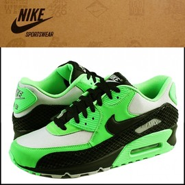 nike - nike air max 90 premium tree snake green black white