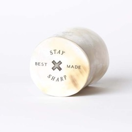 "Best Made Company - ""Stay Sharp"" Horn Whiskey Tumbler"