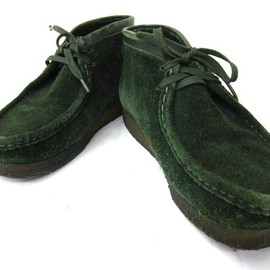 Clarks - wallabee (green)