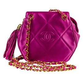 CHANEL - Pink Satin Shoulder Bag
