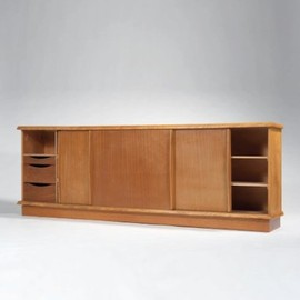 Charlotte Perriand & Pierre Jeanneret - Large Beechwood & Mahogany Cabinet, ca 1948