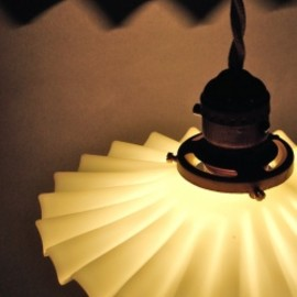"""Petticoat Milk Glass"" Pendant Lamp"