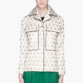 MARNI EDITION - Gold quilted polka-dot Lurex Jacket