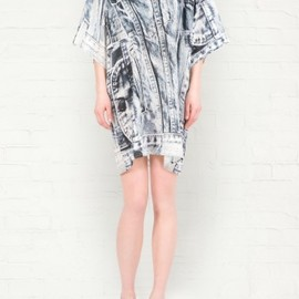 emma cook - Denim Print Silk Dress