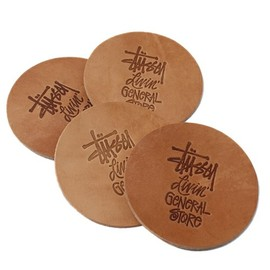 STUSSY Livin' GENERAL STORE - GS Leather Coaster Set