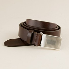 J.CREW - Classic leather plaque belt