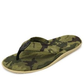 Island Slipper - Camo Leather Suede