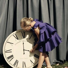 Baby Dior - Baby Dior Summer 2012: purple silk waterfall dress