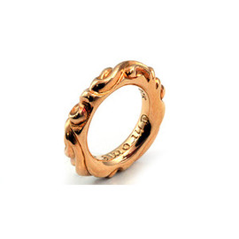 CHROME HEARTS - 22K GOLD SCROLL BANDRING