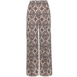 VALENTINO - PRINTED WIDE-LEG COTTON TROUSERS