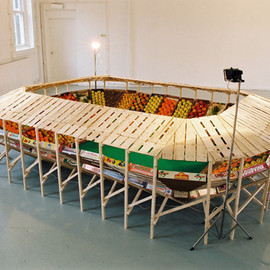 Helmut Smits - Football Stadium with Fruits
