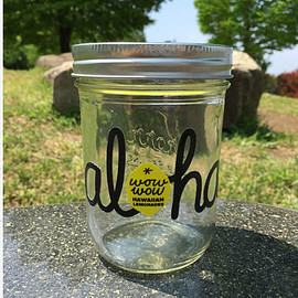 WOW WOW LEMONADES - ワウワウレモネード Aloha Logo 16OZ Maison Jar Black/黒