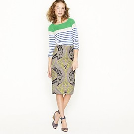 J.CREW - Long No. 2 pencil skirt in sovereign paisley