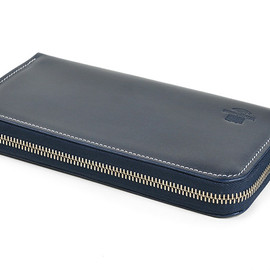 Whitehouse Cox - S2622 Long Zip Wallet-Holidayline-Navy×Orange