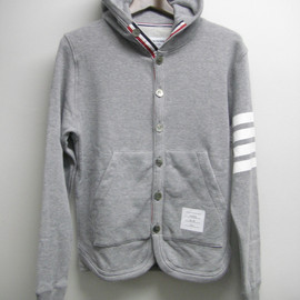 THOM BROWNE - L/S BUTTON UP HOODIE