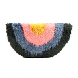 Shrimps - Rainbow faux fur clutch