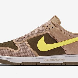 NIKE, UNDEFEATED - Dunk Low - Canteen/Lemon Frost