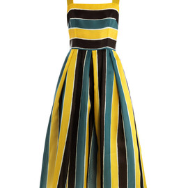 DOLCE&GABBANA - Organza stripe sun dress