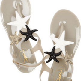 Yves Saint Laurent  - starry rubber sandals