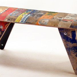 deckstool - deckbench - Recycled Skateboard Bench