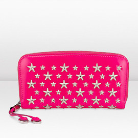 JIMMY CHOO - Patent Leather Wallet with Stars / Fuscha