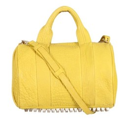 ALEXANDER WANG - YELLOW CITRUS GRAINED LEATHER ROCCO BAG