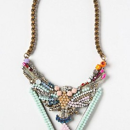 Anthropologie - Beaded Phoenix #Statement Necklace | ANTHROPOLOGIE