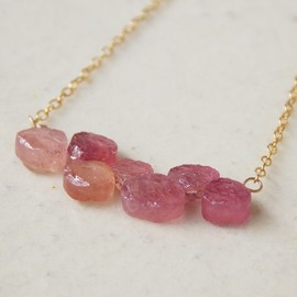 Tida - Pink Sapphire Necklace