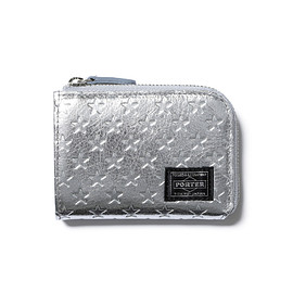 "HEAD PORTER - ""ZIGGY"" COIN CASE SILVER"