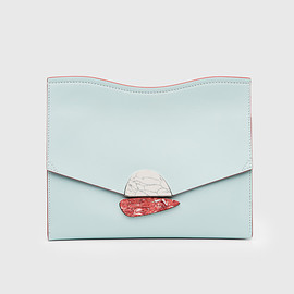 PROENZA SCHOULER - Medium Curl Clutch / Sky