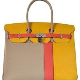 "Hermes - ""Clemence"" multi-color Birkin bag"