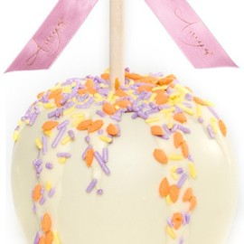 Amy's Product Description - Dunked Caramel Apple w/ White Belgian Chocolate & Easter Sprinkles
