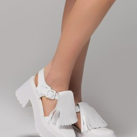 Front Row Shop - Fringe Helled Sandals