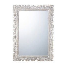 Francfranc - FHR Wooden Wall Mirror ホワイト