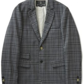 bal - Fine Wool Suit 3B Jacket (plaid)
