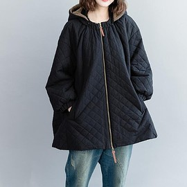 Oversized blouse - Women's winter coat, Cotton Oversized blouse, Loose Hooded clothes