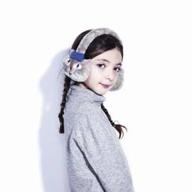 little PAUL & JOE NEIGE -  fausse fur printed ear muffs ネコの耳あて