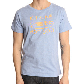 KITSUNE TEE - Hot Dog Blue Kitsune T-Shirt KITSUNE TEE