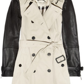 Burberry London  - leather sleeved trench coat