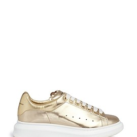 Alexander McQueen - Chunky outsole metallic leather sneakers