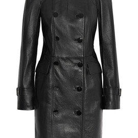 Alexander McQueen - Double-breasted leather coat
