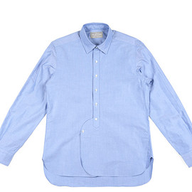 The FRANKLIN TAILORED - Short Point Oxford Shirts-Blue