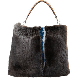 FENDI - Fur Panel Selleria Hobo