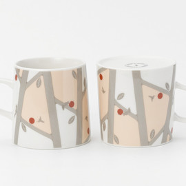 CEMENT PRODUCE DESIGN, FLIP A MUG - pattern of forest